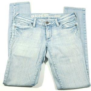 Bullhead womens size 5 lite wash skinny Jean's